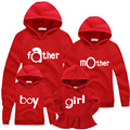 Family matching outfits Autumn Cotton Hooded Pullover hoodies family  fashion sports clothing 1 pc