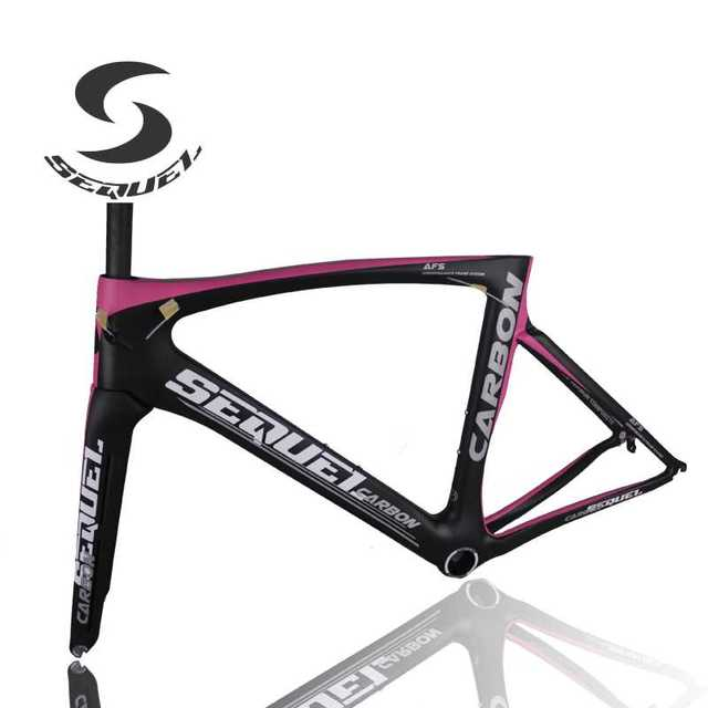 Pink light carbon bike frame T1000 carbon fiber bicycle frame + ...
