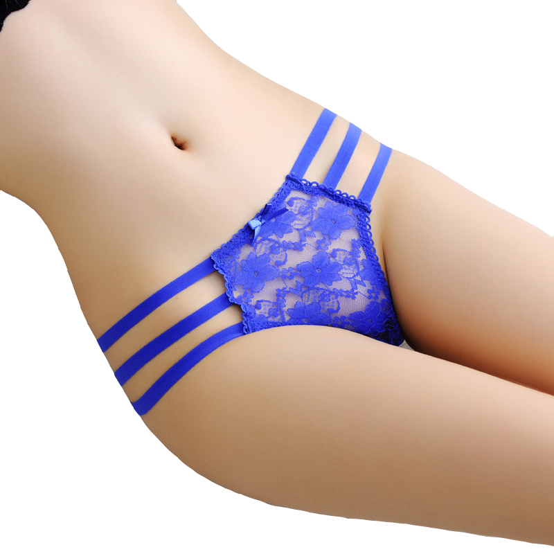 5pcs/lot sexy underwear women V-string briefs Women's Sexy Transparent Thongs G-string 3 bandage sexy Panties gadgets Girl