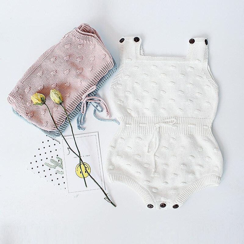 MYUDI - Baby Bodysuit Girls Kids Jumpsuit Toddler Vest Clothing Children Sweater Toddler Knitted Pullover pompom clothes