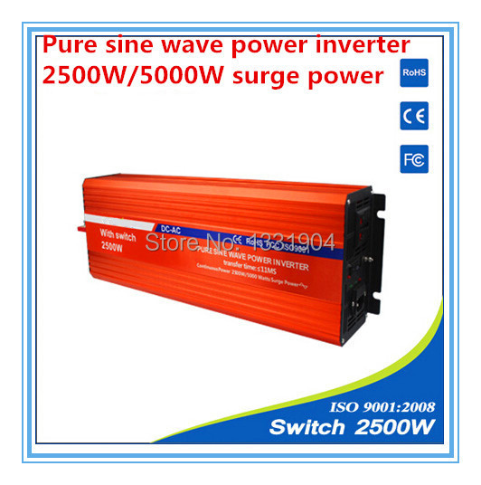 цена на 2500W pure sine wave inverter DC24V to AC220V inverter,solar power inverter with auto transfer switch,car inverter