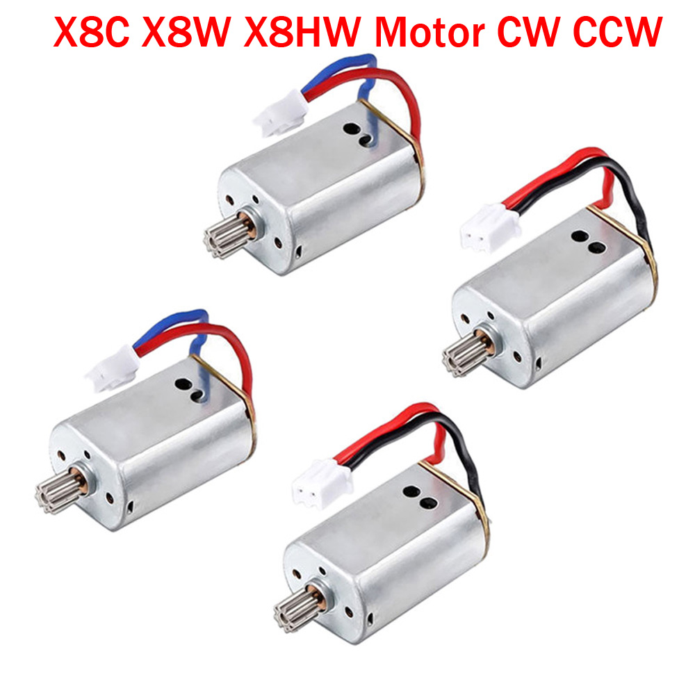 100% Original Upgraded 2pcs or 4pcs/lot Syma X8C X8W RC Quadcopter Spare Parts Motor CW/CCW RC Quadcopter Accessories 5pcs lot syma x13 quadcopter parts 3 7v 200mah battery