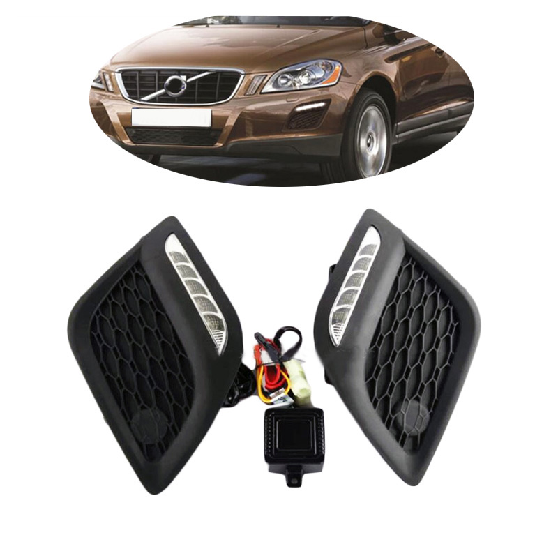 Headlight For Volvo XC60 2011 2012 2013 LED DRL Daytime Running Light Waterproof  Fog Lamp Fog light  Car-styling Free Shipping dongzhen 1 pair daytime running light fit for volkswagen tiguan 2010 2011 2012 2013 led drl driving lamp bulb car styling