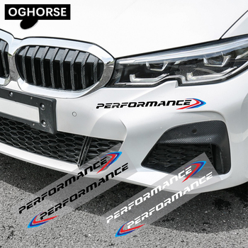 2X Front Bumper Decal New M Performance Sticker For BMW E90 E46 E39 E60 F30 F20 G30 X6 F16 F10 F34 X3 X4 X5 E70 F15 M3 M5 Z4 G20 image