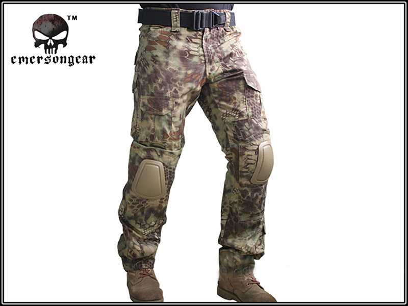 ФОТО Emerson Gen2 Integrated Battle Pants w/Pads Airsoft Tactical Combat BDU Pants Outdoor Sports Military Hunting Trousers EM7034 MR