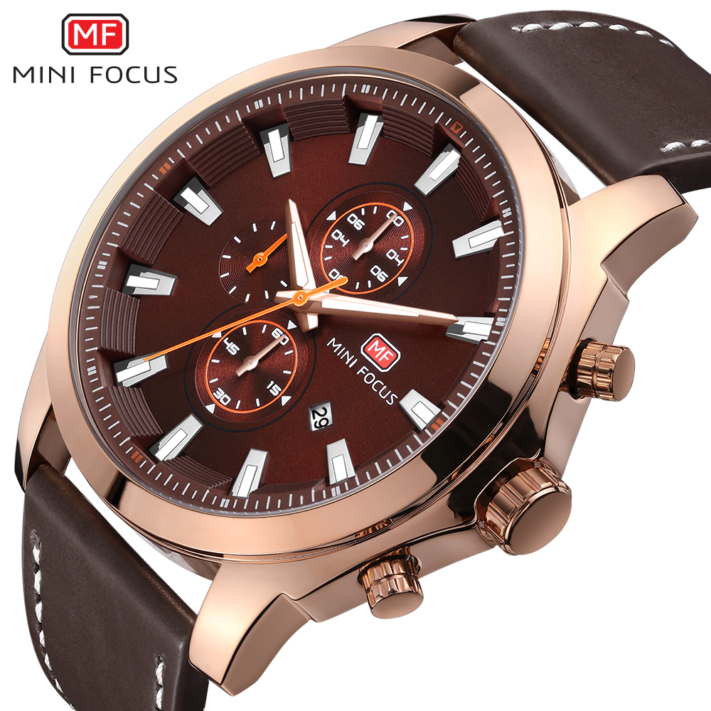 Top Luxury Brand MINIFOCUS Men's Watch Fashion Casual Quartz Wristwatches 24 hour Display Waterproof Clock Man Relogio Masculino 2017 new top fashion time limited relogio masculino mans watches sale sport watch blacl waterproof case quartz man wristwatches