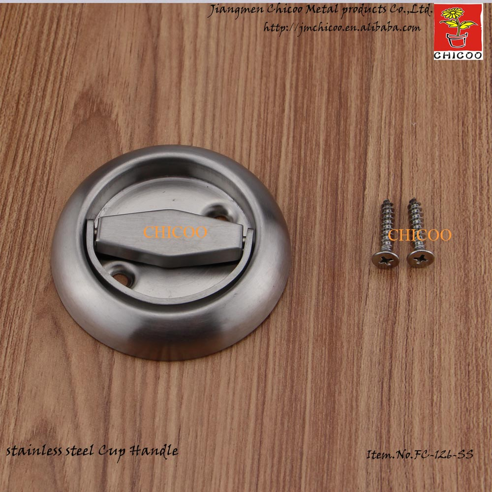 Stainless Steel Invisible handle Recessed Cup  Handle door Cup Handle Flush pull handle 1 pair viborg sus304 stainless steel heavy duty self closing invisible spring closer door hinge invisible hinges jv4 gs58b