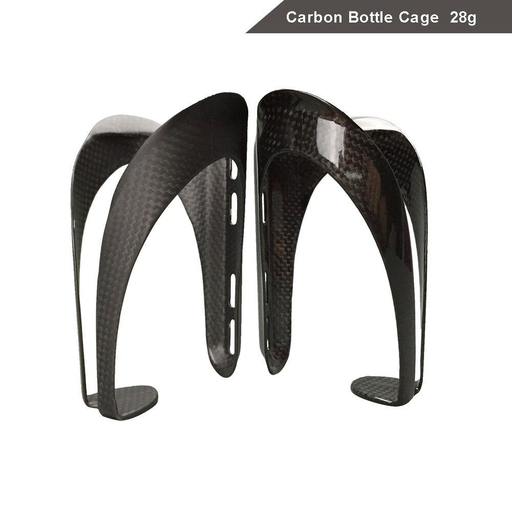 2 Pcs/Lot vélo léger cyclisme pleine fibre de carbone noir porte-bouteille/universel porte-bidon Durable accessoires pièces