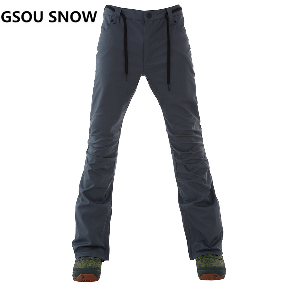 Gsou Snow Skiing Pants Men Snowboarding Winter Outdoor Windproof Ski Pants Waterproof Warmful Breathable Cotton High-Q Male gsou snow high quality men ski pants snowboarding colorful warm waterproof windproof breathable skiing pants