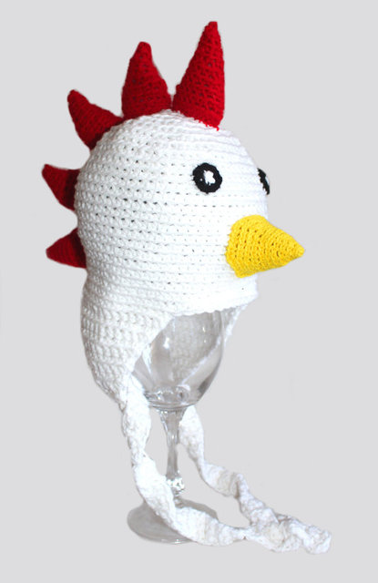 0be0560c32f Crochet Rooster Chick Chicken Pullet Hen Hat