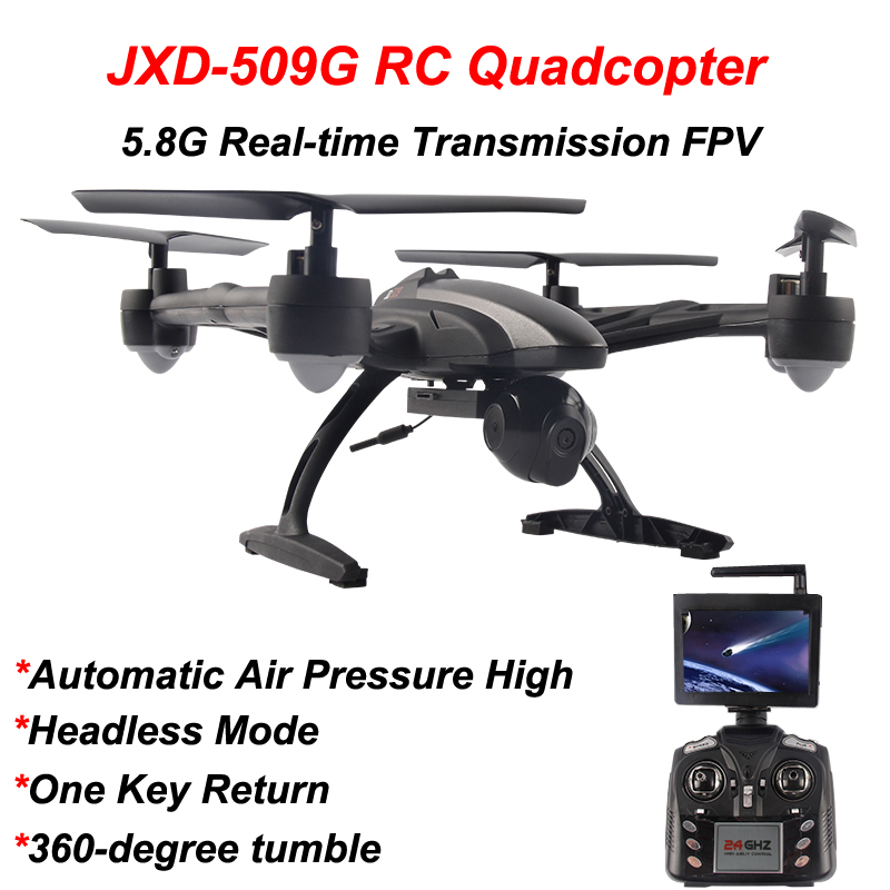 JIN XING DA JXD 509G JXD509G RC Airplane Quadcopter Drone 5.8G FPV With 2.0MP HD Camera Altitude Hold Headless Mode selfie drone jxd 523w jxd 523 tracker foldable mini rc drone with wifi fpv camera altitude hold headless mode rc helicopter