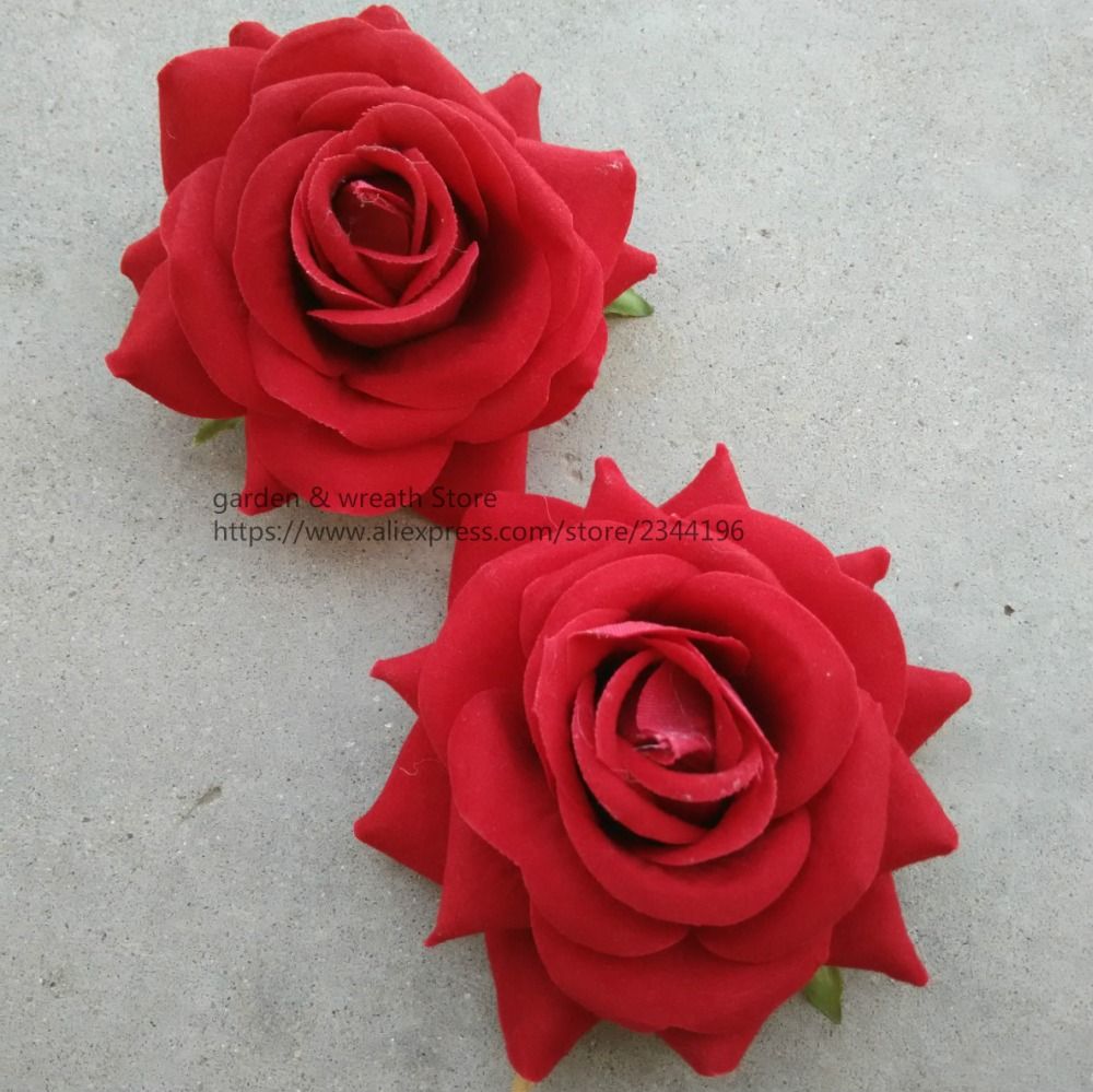 Silk Flower Heads Large Roses Heads For Diy Work Head