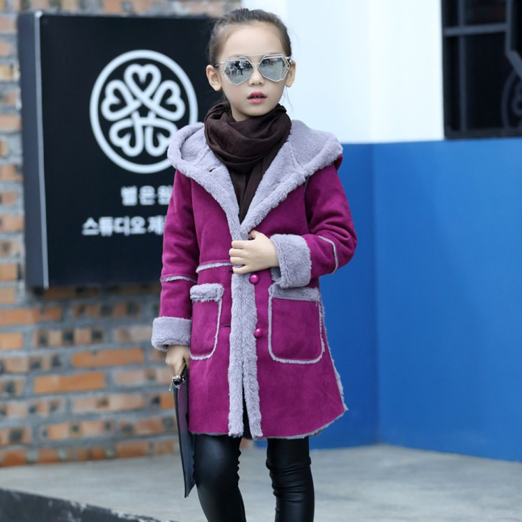 Girls New Winter Coat Kids Long Hooded Jackets Fashion Thicken Warm Outerwear Baby Clothing Children's Outerwear Cotton Clothes girl winter coat 2018 fashion children warm hooded jackets girls cotton padded long parka outerwear kids casual thicken clothes