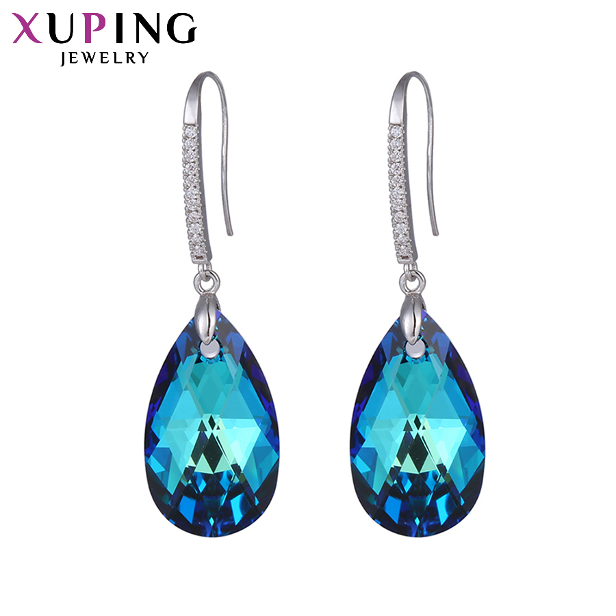 11 11 Deals Xuping Fashion Earrings Wholesale High Quality Crystals from Swarovski Color Plated Charm for