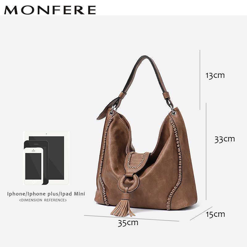 55cc6d4e0281 ... MONFERE модная веганская кожаная сумка с верхней ручкой женская сумка-тоут  женские большие откидная часть