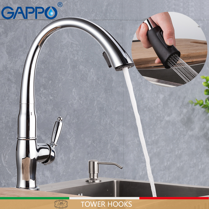 GAPPO Kitchen Faucet Tap Water Tap Kitchen Sink Faucet Water Mixer Kitchen Water Faucets Sink Tap Pull Out Kitchen Faucet