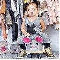 2017 Новые Детские Мальчики Девочки Устанавливает Комплект Одежды Детская Одежда Одежда Лето Жилет + Брюки Детская Одежда Костюм 0-2 Т
