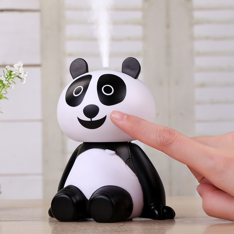 120ML USB Panda Humidifier Essential Oil Diffuser Aroma Cool Mist  For Home Office Bedroom Living Room And Spa Baby