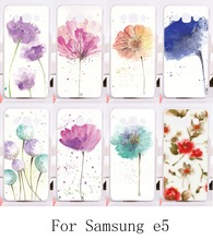 Phone Cases For Samsung Galaxy E5 E500 SM-E500F E500H Covers DIY hard and Silicon Material Protective Colorful Flower Cover Back