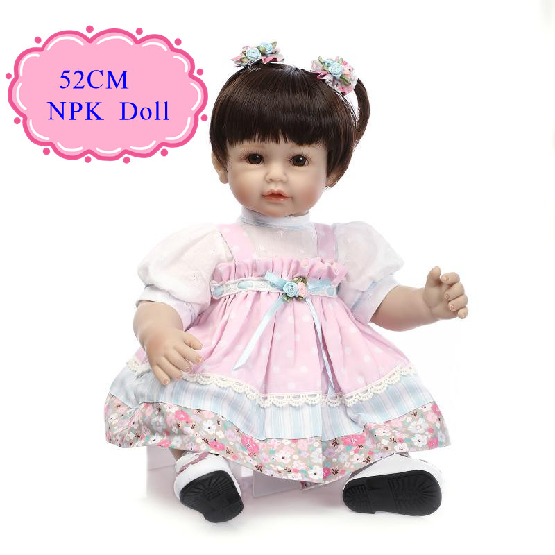 Adora 52cm 20inch Silicone Baby Dolls With Cute Short Hair Hot Welcome Lifelike Reborn Toddler Dolls Best Simulation Doll Toys short curl hair lifelike reborn toddler dolls with 20inch baby doll clothes hot welcome lifelike baby dolls for children as gift