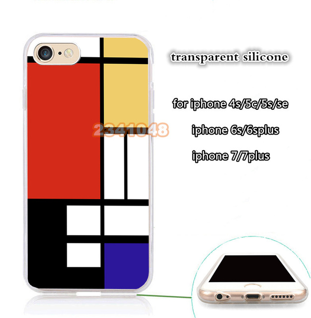 What Is Bauhaus Style bauhaus style abstract transparent silicone phone for