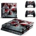 Resident evil etiqueta engomada del vinilo de la piel para sony ps4 ps4 playstation 4 consolas y 2 controladores pegatinas