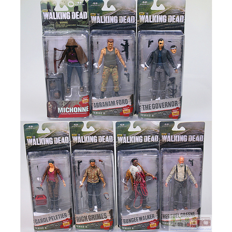 AMC TV Series The Walking Dead Abraham Ford Bungee Walker Rick Grimes The Governor PVC Action Figure Toys Collectible Model Toy