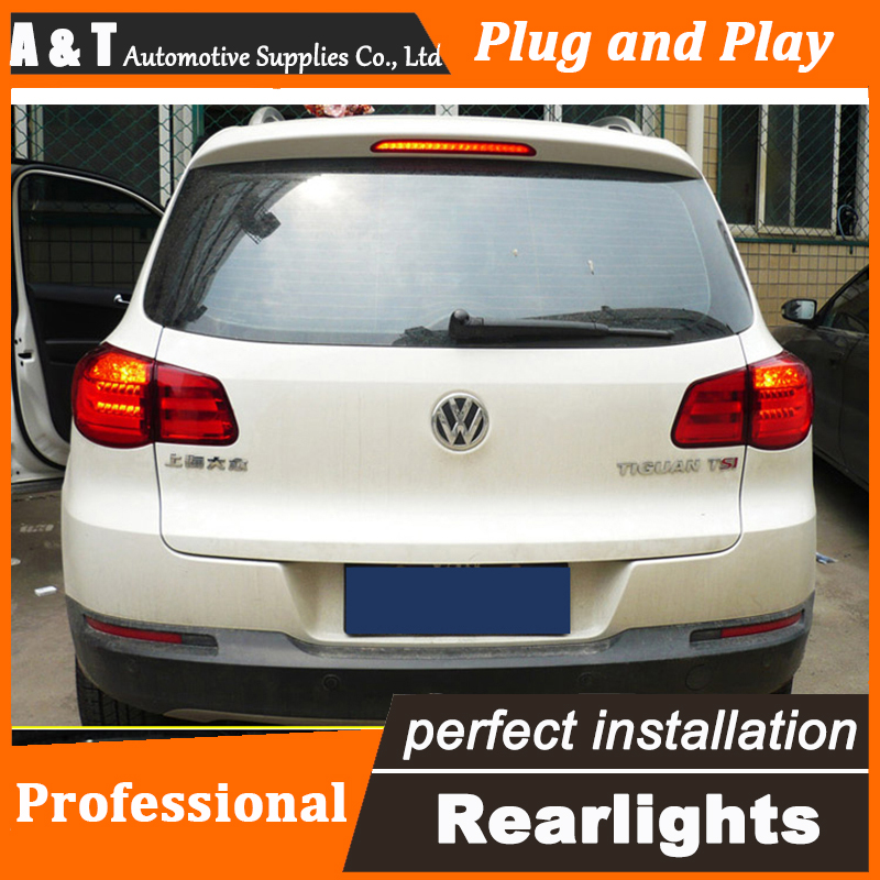 ФОТО A&T Car Styling for VW Tiguan Taillights 2010-2014 Tiguan LED Tail Light Rear Lamp LED DRL+Brake+Park+Signal
