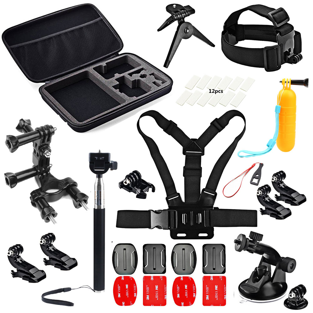 SHOOT Cycling Surfing Accessories Set for GoPro Hero 5 4 3 SJCAM Xiaomi Yi 4k Eken