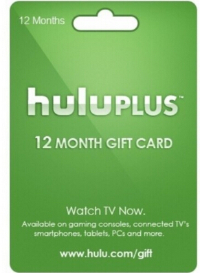 Hulu Plus 6 month Gift Subscription Gift Card Gift code email delivery
