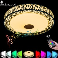 LED Ceiling Light Modern RGB Ceiling Light Remote Control Bluetooth With Colourful And Dimmer For Living
