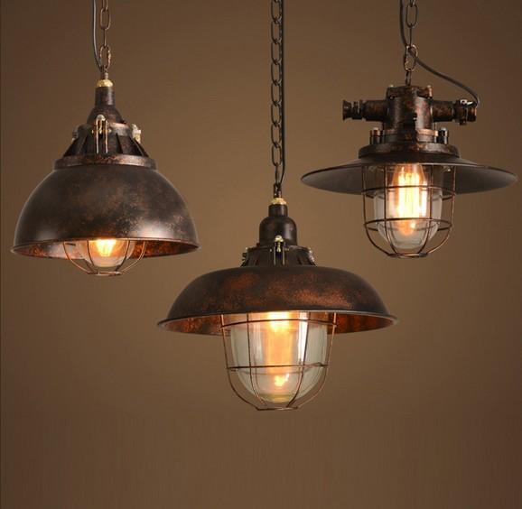 Hanging Dining Room Light Fixtures: Loft Style Antique Iron Droplight Edison Pendant Light
