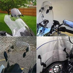 Image 3 - ROAOPP evrensel motosiklet yükseldi ayarlanabilir rüzgar ekran Spoiler hava deflektörü için Honda BMW Yamaha Kawasaki Suzuki