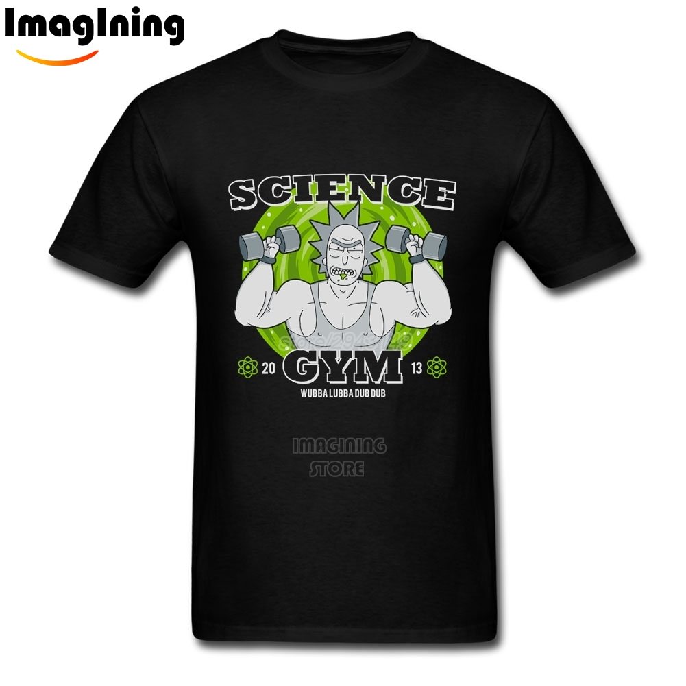 2017 New Science Tee Shirts Boyfriend's Cheap Muscle Man Rick and Morty Unique Men's T-shirt 2XL