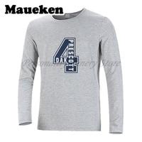 Men Autumn Winter Dak Prescott #4 Back to the Future T Shirt Long Sleeve Tees DAK Logo D4K T SHIRT Men's W1020009