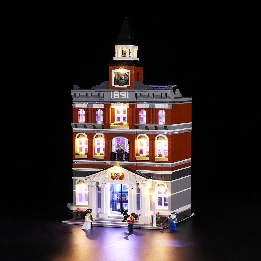 Led Light Set For Lego 10224 Creators City The town hall Compatible 15003 Building Blocks Bricks