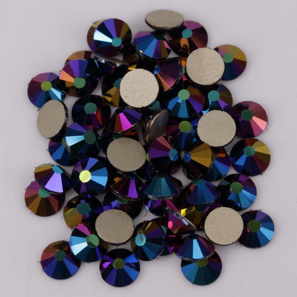 High Quality Ss3-30 Ghost Grey Glue On Flat Back Crystals / Non Hotfix Rhinestones