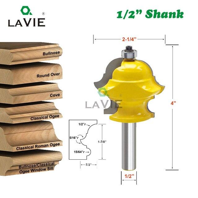 LAVIE 12mm, 1/2 tige, multi profil, pour moulage, mèche de porte, fraise pour outils de menuiserie, MC03085, 1 pièce