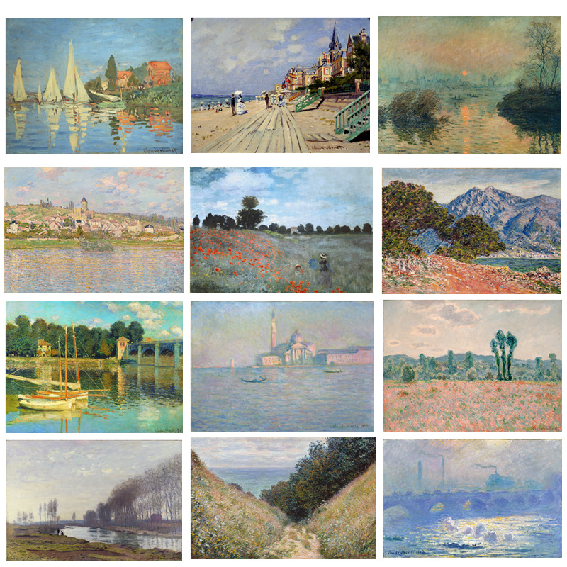 7a1bc164c Pintura em tela Impressões Famosa Pintura A Óleo de Claude Monet  Impressionista Retrato Da Arte Da Parede para Sala de estar Decoração de  Casa