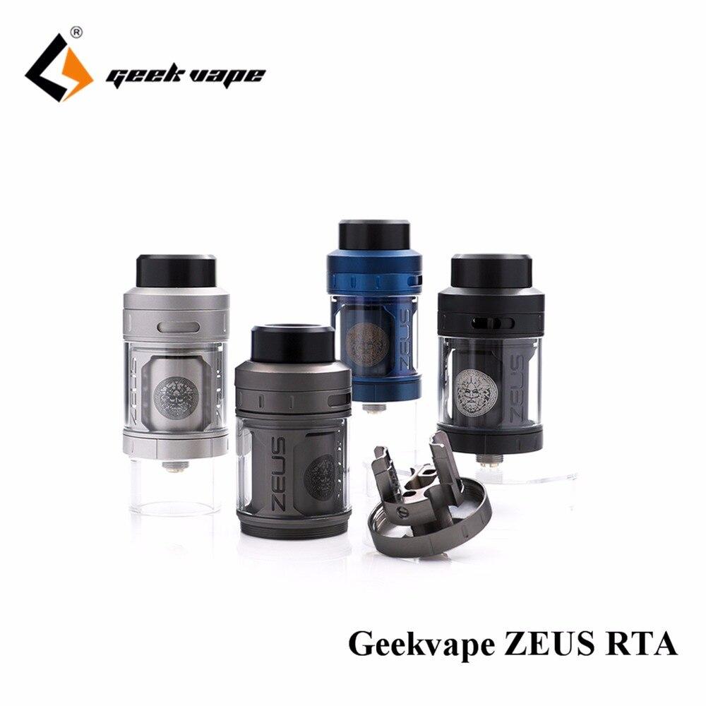 Grande vente Geekvape Zeus RTA meilleure saveur ecig atomiseur 4 ml 3D flux d'air E Cigarette Zeus étanche Atomiseur Réservoir 510/810 pointe de goutte à goutte