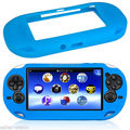 Blue Silicone Skin Protector Cover Case Shell For Sony PSV PS Vita  PSV1000 Console