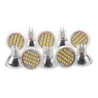10 Uds MR11 GU4 blanco cálido 3528 SMD 24 LED Home Spotlight bombilla 1W 12V