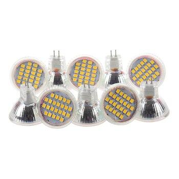 10 adet MR11 GU4 Sıcak Beyaz 3528 SMD 24 LED Ev Spot Işık lamba ampulü 1W 12V