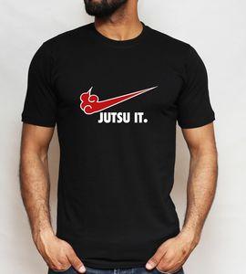 Image 1 - Akatsuki Jutsu het T shirt Grappige parodie Naruto Japanse Anime Tee Top Mannen S XXLFree verzending Harajuku Tops t shirt