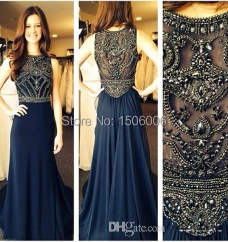 Compare Prices on Long Dark Blue Prom Dresses 2014- Online ...