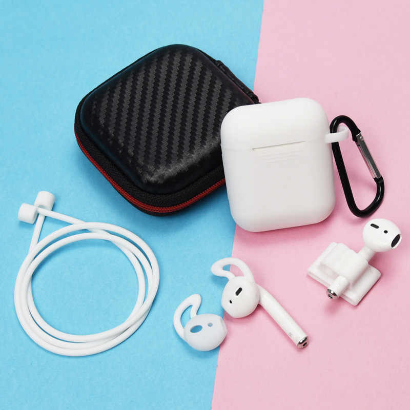 Headphones Case Box Airpods Accessories  for Apple Generation Wireless Bluetooth Headset Protection Earplugs Storage Bag 6 in 1