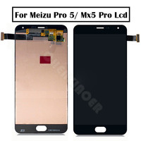 5.7 for Meizu Pro 5 pro5 LCD screen Display+Touch panel Digitizer with frame for meizu mx5 Pro lcd Black/White Assembly repair