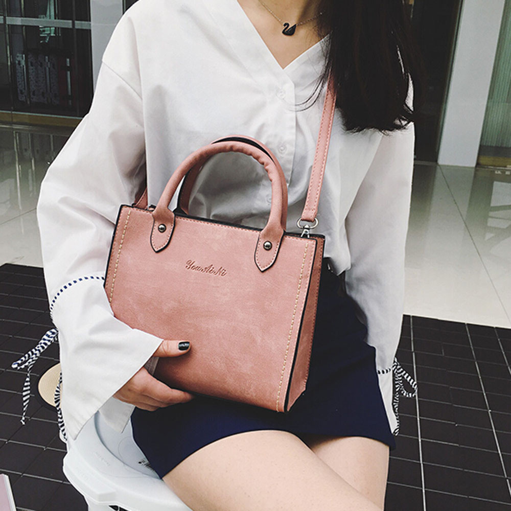Aelicy pu leather bag female woman designer bags luxury high quality vintage casual tote leather traveling bag female women bag designer vintage female knitting handle handbag quality pu leather casual tote bag durable portable daypack shoulder bag