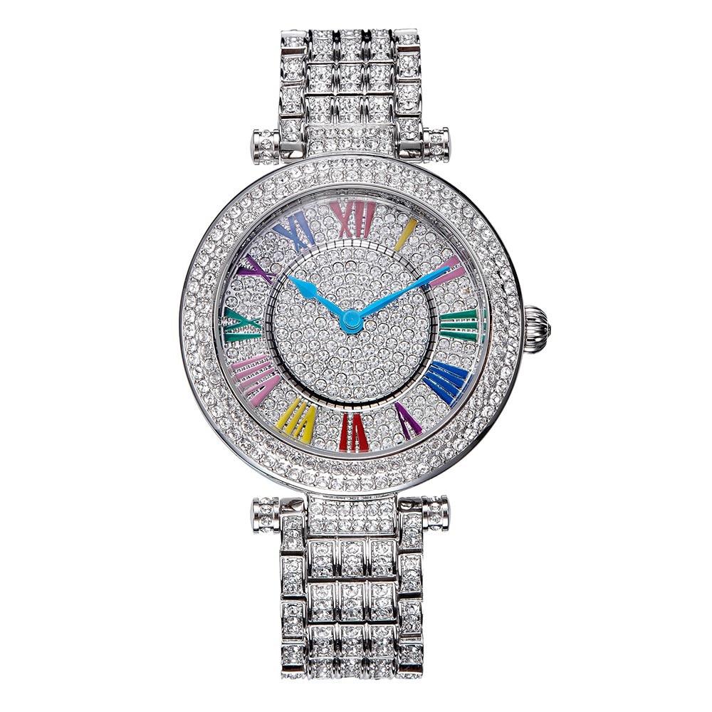Luxury Davena Lady Woman Wrist Watch Elegant Rhinestone Fashion Hours Crystal Dress Bracelet Party Girl Birthday Christmas Gift цена