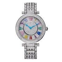 Luxury Davena Lady Woman Wrist Watch Elegant Rhinestone Fashion Hours Crystal Dress Bracelet Party Girl Birthday Christmas Gift
